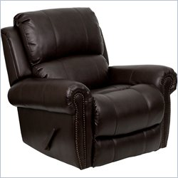 Flash Furniture Plush Rocker Recliner in Brown