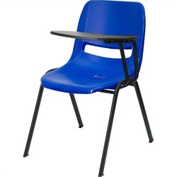 Flash Furniture Ergonomic Shell Chair in Blue