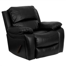Flash Furniture Leather Rocker Recliner in Black