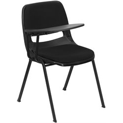 Flash Furniture Padded Ergonomic Shell Chair in Black