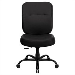 Hercules Series Leather Office Chair in Black