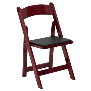 Wood Folding Chair in Mahogany