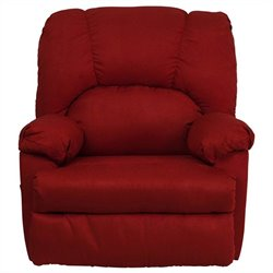 Flash Furniture Contemporary Montana Garnett Suede Rocker Recliner