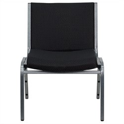 Flash Furniture Hercules Series Extra Wide Stack Chair in Black