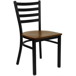 Ladder Back Metal Dining Chair in Cherry