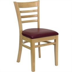 Flash Furniture Hercules Series Dining Chair with Burgundy Seat