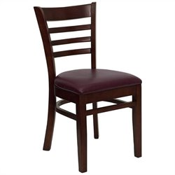 Flash Furniture Hercules Series Ladder Back Wooden Chair in Mahogany