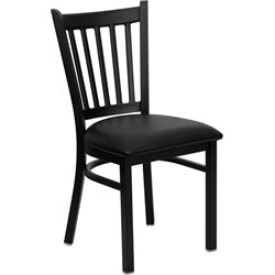 Flash Furniture Hercules Series Vertical Back Metal Chair in Black