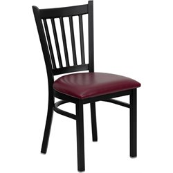 Flash Furniture Hercules Series Black Back Metal Chair in Burgundy
