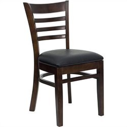 Flash Furniture Hercules Ladder Back Dining Chair with Black Seat