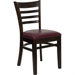Flash Furniture Hercules Ladder Back Dining Chair with Burgundy Seat