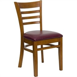 Flash Furniture Hercules Series Dining Chair in Cherry and Burgundy