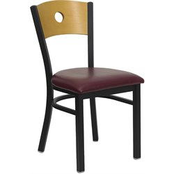 Flash Furniture Hercules Series Black Metal Chair with Burgundy Seat