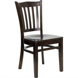 Flash Furniture Hercules Series Restaurant Chair in Walnut