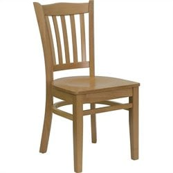 Flash Furniture Hercules Vertical Slat Back Restaurant Dining Chair