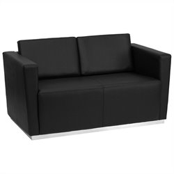 Flash Furniture Hercules Trinity Series Love Seat in Black