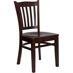 Flash Furniture Hercules Series Restaurant Dining Chair in Mahogany