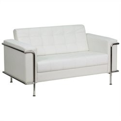 Flash Furniture Hercules Lesley Series Love Seat in White