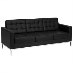 Flash Furniture Hercules Lacey Series Contemporary Sofa in Black
