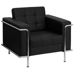 Flash Furniture Hercules Lesley Series Contemporary Chair in Black