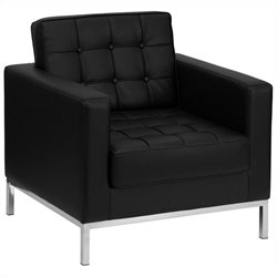 Flash Furniture Hercules Lacey Series Contemporary Chair in Black