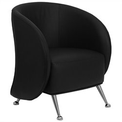 Flash Furniture Hercules Jet Series Reception Chair in Black