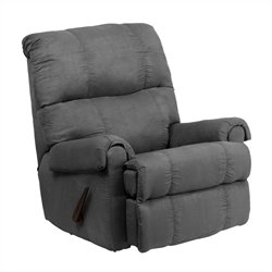 Flash Furniture Flatsuede Microfiber Rocker Recliner in Graphite