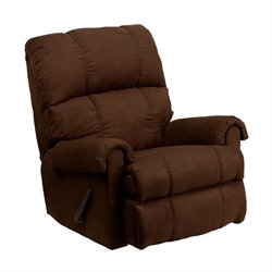 Flash Furniture Flatsuede Microfiber Rocker Recliner in Chocolate