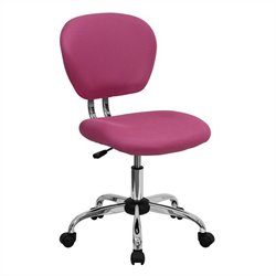 Flash Furniture Mid-Back Mesh Task Chair in Pink
