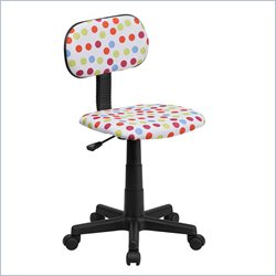 Flash Furniture Multi-Colored Dot Printed Computer Chair