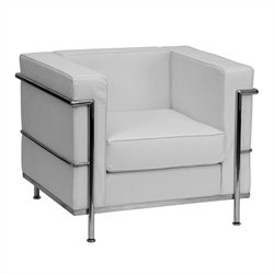 Flash Furniture Hercules Regal Leather Chair in White