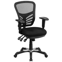 Flash Furniture Mid-Back Mesh Chair in Black