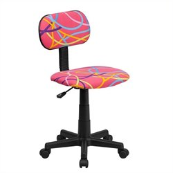 Flash Furniture Multi-Colored Swirl Printed Pink Computer Chair