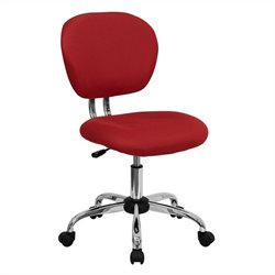 Flash Furniture Mid-Back Mesh Task Office Chair in Red