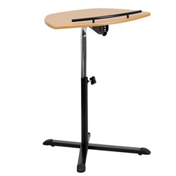 Flash Furniture Adjustable Standing Laptop Cart in Natural