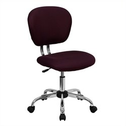Flash Furniture Mid-Back Mesh Task Chair in Burgundy