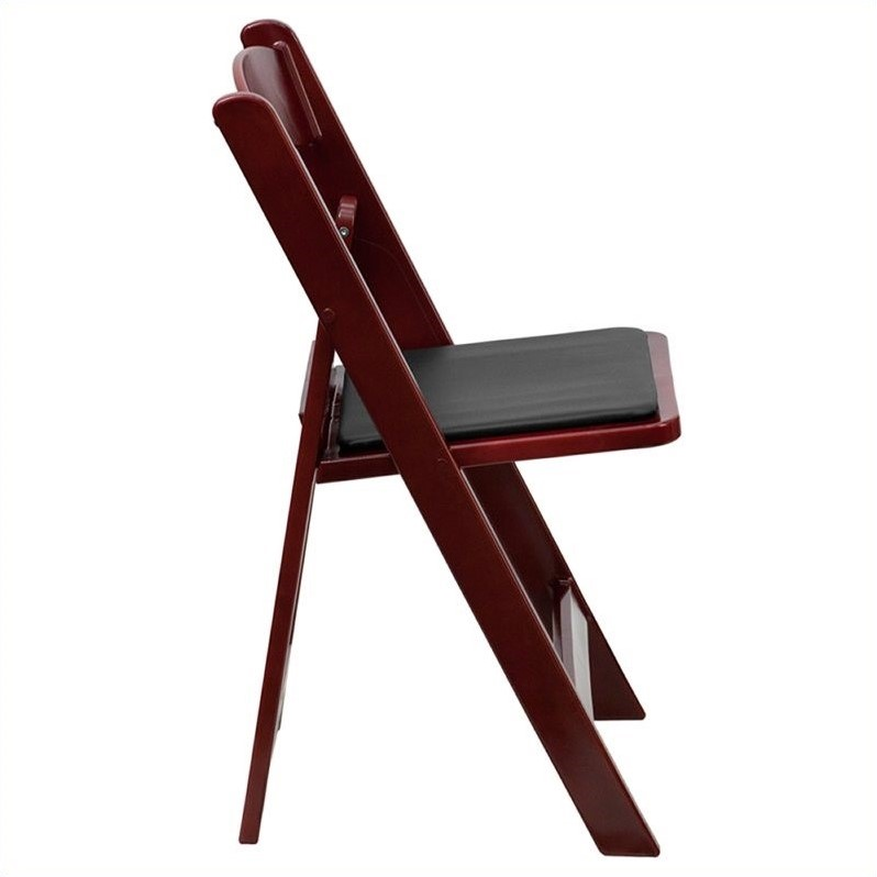 Folding Chair in Mahogany and Black