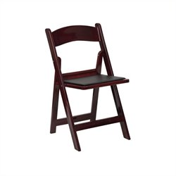 Flash Furniture Hercules Folding Chair in Mahogany and Black