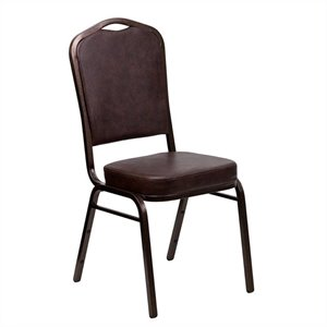 Banquet Stacking Chair in Brown