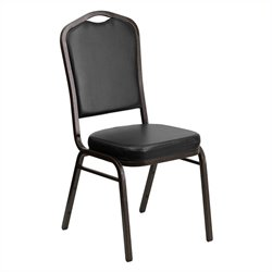 Flash Furniture Hercules Crown Back Stacking Banquet Chair in Black