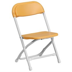 Flash Furniture Kids Plastic Folding Chair in Yellow