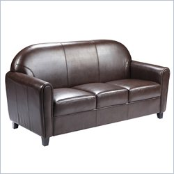 Flash Furniture Hercules Envoy Leather Sofa in Brown