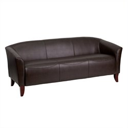 Flash Furniture Hercules Imperial Leather Sofa in Brown and Cherry