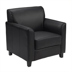 Flash Furniture Hercules Diplomat Leather Chair in Black