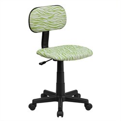 Flash Furniture Green and White Zebra Print Computer Chair
