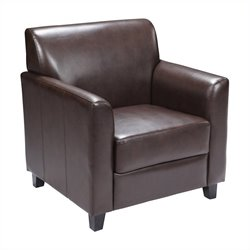 Flash Furniture Hercules Diplomat Leather Chair in Brown