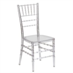 Flash Furniture Elegance Stacking Chiavari Dining Chair in Crystal Ice