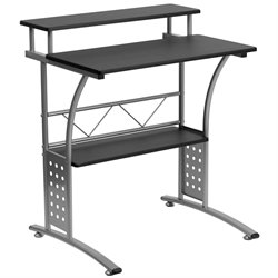 Flash Furniture Clifton Computer Desk in Black