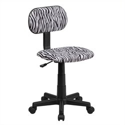 Flash Furniture Black and White Zebra Print Computer Chair