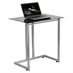 Tempered Glass Computer Desk in Black